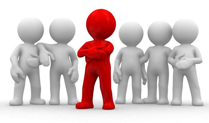 team leadership 3d character stock photo